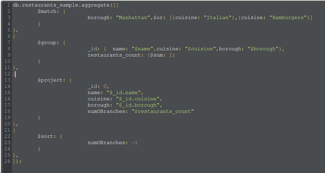 MongoDB : Transformations or Analytics using aggregation